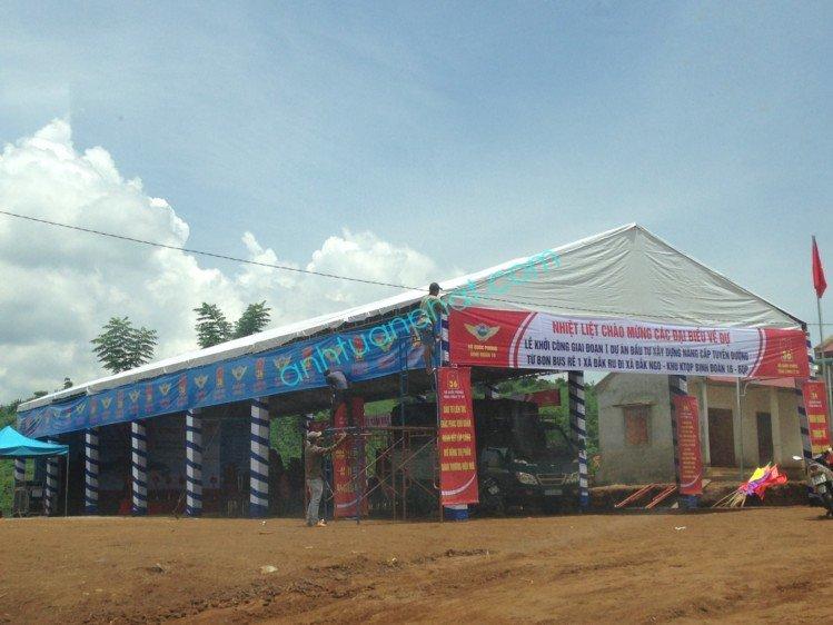 Tổ chức lễ Khởi công - Động thổ ở Đắk Nông - Binh Đoàn 16